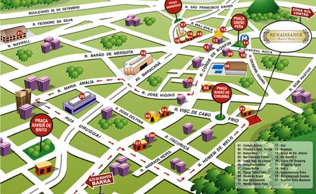 Mapa artístico da localização