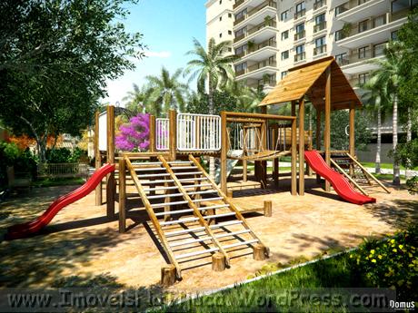 Área de lazer - Ilustração artística do Playground