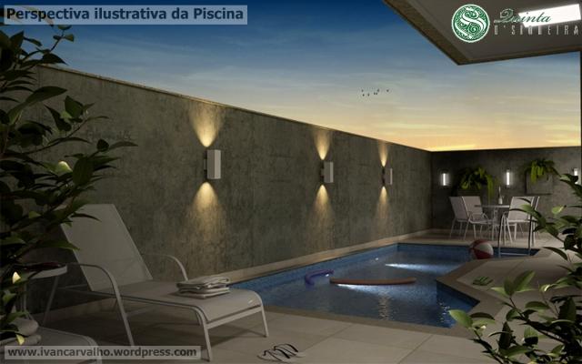 Quinta D Siqueira - ilustração da Piscina