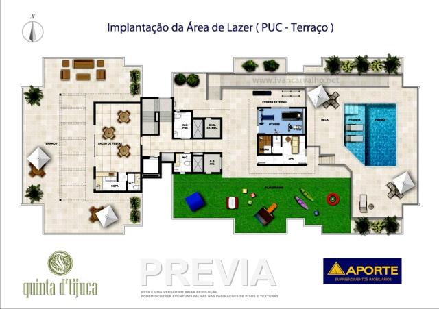 Quinta da Tijuca | Implantação da área de lazer